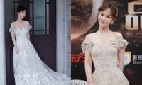 Dương Tử gây sốc vì đi giày bốt da siêu hầm hố cùng váy trắng bồng bềnh như cô dâu