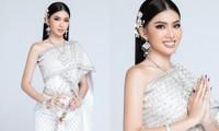 Lọt Top 10 bình chọn clip tự giới thiệu, Á hậu Ngọc Thảo tiếp tục thử thách mặc đồ Thái