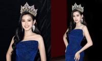 """Lâu rồi Hoa hậu Đỗ Thị Hà mới đội vương miện và đổi màu váy, nhan sắc còn """"đỉnh"""" hơn?"""