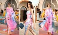 Trở lại sàn runway, Hoa hậu Đỗ Thị Hà được khen mở màn ấn tượng, thần thái thăng hạng