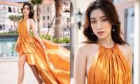 """Hoa hậu Đỗ Mỹ Linh lột xác trong bộ váy cắt xẻ táo bạo, đẹp như """"nữ thần mùa Hè"""""""