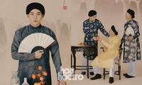 """Jun Phạm """"ngược dòng thời gian"""", mặc cổ phục Việt chụp hình bên gia đình đón Tết"""