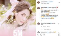 Đạt 5 triệu followers trên Instagram, Ngọc Trinh mạnh tay chi tiền mặt tặng fan