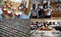 Giữa mùa dịch COVID-19, học sinh trên thế giới đón khai giảng năm học mới như thế nào?