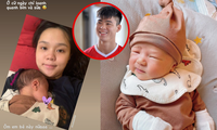 """""""Công chúa béo"""" Quỳnh Anh khoe mặt mộc sau khi sinh, lập hẳn Instagram cho bé Ú"""