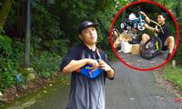 """YouTuber NTN thả dốc mạo hiểm bằng xe cút kít từ đỉnh núi có nhiều khúc cua """"tử thần"""""""