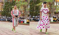 """Khi trường học trở thành """"sàn diễn thời trang"""": Teen diện trang phục siêu độc đáo"""