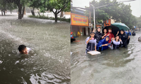Teen miền Trung: Ngồi ôn bài mà nước ngập tới đầu gối chưa biết khi nào mới trở lại trường