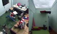 """Sinh viên miền Trung xoay sở mùa mưa lũ: Gió quật bay cả mái nhà, """"câu cá"""" trong phòng trọ"""