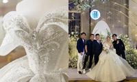 Cận cảnh váy cưới 28 tỉ đồng của Xoài Non - vợ Xemesis, streamer giàu nhất Việt Nam