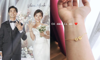 Chu đáo như cô dâu Viên Minh: Chuẩn bị cả lắc vàng tặng cho các chị em tới dự đám cưới