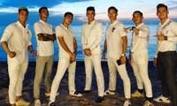 Dàn cầu thủ đình đám diện dresscode trắng xuất hiện trong đám cưới Công Phượng ở Phú Quốc