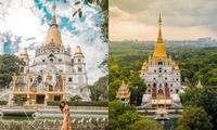 """Địa điểm """"check-in"""" cực đẹp của giới trẻ Sài Gòn: Ngôi chùa có bảo tháp cao nhất Việt Nam"""