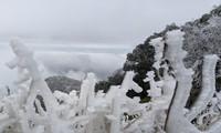 Băng giá phủ trắng một số nơi ở vùng núi phía Bắc: Team săn tuyết lên đường ngay thôi!