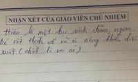 """Nhận xét của giáo viên khiến học sinh """"cười ra nước mắt"""", không biết là khen hay chê nhỉ?"""