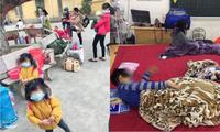 Gần 80 học sinh, giáo viên Tiểu học Xuân Phương (Hà Nội) cách ly tại trường: Thương lắm, cố lên nhé!