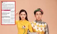 """MC Trấn Thành lên tiếng bảo vệ Hari Won: """"Bài viết sai sự thật, gây tổn thương tinh thần vợ tôi"""""""