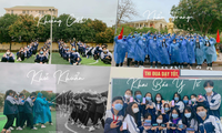 Teen THPT chuyên Phan Bội Châu chụp ảnh kỷ yếu mùa dịch theo thông điệp 5K của Bộ Y tế