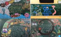 Sôi động Tháng Thanh niên: Hội học sinh đua nhau khoe màn trang trí bảng cực đẹp