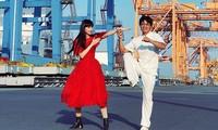 Jessica Minh Anh phải tập luyện võ cùng Tuấn 'Hạc' với cường độ cao để đóng phim
