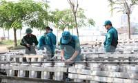 Trận địa pháo hoa trước giờ khai hoả đón năm mới ở Sài Gòn