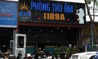 Phòng thu âm nơi phát hiện 28 người Trung Quốc.