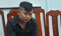 Nguyễn Tấn Thành tại cơ quan công an.
