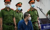 Bị cáo Phong tại phiên tòa.