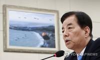 Bộ trưởng Quốc phòng Hàn Quốc Han Min-koo trong cuộc họp hôm nay, 16/5. Ảnh: Yonhap