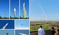 Chủ tịch Kim Jong-un theo dõi quá trình thử nghiệm hệ thống vũ khí chống máy bay mới. Ảnh được hãng thông tấn KCNA công bố hôm nay, 28/5.
