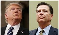 Tổng thống Mỹ Donald Trump (trái) và cựu Giám đốc Cục Điều tra liên bang Mỹ FBI (phải).