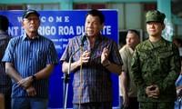 Tổng thống Duterte phát biểu hôm qua, 11/6 tại doanh trại quân đội ở thành phố Cagayan de Oro, cách Marawi khoảng 100km. Ảnh: Reuters