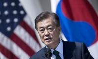 Tổng thống Hàn Quốc Moon Jae-in hôm nay bắt đầu chuyến thăm Mỹ kéo dài năm ngày. Ảnh minh họa: AFP