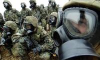 Binh sĩ Mỹ diễn tập tại Hàn Quốc. Ảnh: Reuters
