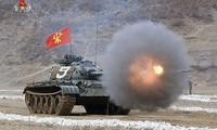 Xe tăng Triều Tiên. Ảnh: Yonhap