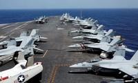 Tàu sân bay USS Carl Vinson của Mỹ. Ảnh: Reuters