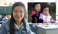 Vợ và hai con của He. Ảnh: Shanghaiist