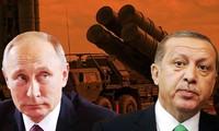 Tổng thống Thổ Nhĩ Kỳ Recep Tayyip Erdogan (phải) và Tổng thống Nga Vladimir Putin (trái). Ảnh: Soha
