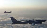 Hình ảnh do NORAD công bố cho thấy chiến đấu cơ Mỹ - Canada chạm trán Tu-95 Nga ngày 8/8. Ảnh: NORAD