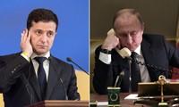Tổng thống Ukraine Volodymyr Zelensky và Tổng thống Nga Vladimir Putin. Ảnh: RT