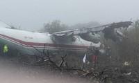 Máy bay hư hỏng nặng sau vụ va chạm. Ảnh: Chính quyền Ukraine