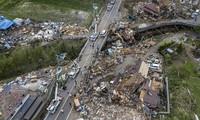 Cảnh tan hoang vì siêu bão Hagibis ở Nhật Bản nhìn từ trên cao