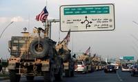 Nhóm quân Mỹ rút khỏi miền Bắc Syria. Ảnh: Reuters
