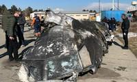 Hình ảnh xác chiếc Boeing bị Iran bắn rơi vừa được chính quyền Ukraine công bố.