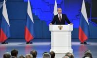 Ông Putin trình bày thông điệp liên bang ngày 15/1. Ảnh: Sputnik