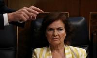 Bà Carmen Calvo. Ảnh: Reuters