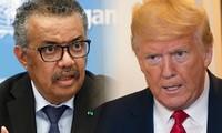 Tổng Giám đốc WHO Tedros Adhanom Ghebreyesus (trái) và Tổng thống Mỹ Donald Trump (phải). Ảnh: Al Jazeera