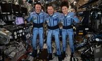 Các phi hành gia Jessica Meir, Andrew Morgan và Oleg Skripochka. Ảnh: NASA
