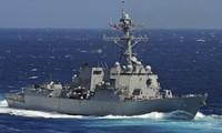 Tàu khu trục USS Kidd. Ảnh: Reuters
