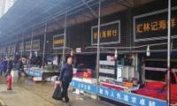 Chợ hải sản Huanan. Ảnh: CNS
